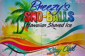 Retro-advertising sign sno-balls — Stock Photo
