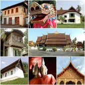 Здания и храмы в Лаосе — Стоковое фото