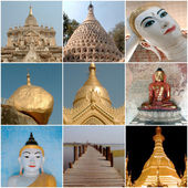 Different monuments and important sites in Burma — Stock Photo