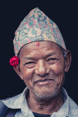 Portrait of a Nepalese man — Stock Photo