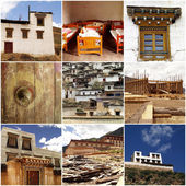 Tibetan architecture in China — Stock Photo