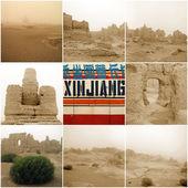 Jiaohe antike Stadt in xinjiang — Stockfoto