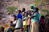 People watching music and dance in Dogon Land — Stock Photo