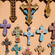 Orthodox crosses for sale in local shop  — Stock Photo