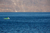 Little fisher boat on the aegean sea — 图库照片