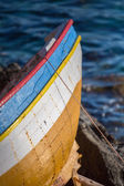 Little fisher boat on the aegean sea — Stok fotoğraf