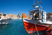 Little fishers boats on the aegean sea — Stock Photo