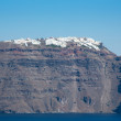 Panoramic view of the  Caldera and  Fira in Santorini, Greece — Stock Photo