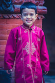 Young boy posing in traditional clothes in nepal — Stock Photo