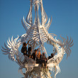 Monumental sculpture with Dancing people, Burning Man Festival 2 — Stock Photo