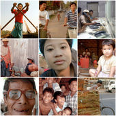 Portraits of unidentified people living and working in Myanmar i — Stock Photo