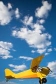 Yellow old airplane — Stock Photo