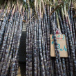 Piles of Bamboo-sticks for sale — Stock Photo