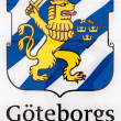 Sign board with the official Logo of the city Goteborgs. — Stock Photo