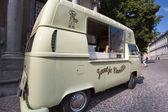 Ice cream car in the street of Bruges — Stock Photo