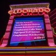 Постер, плакат: Entrance of the Eldorado Casino in Reno at night