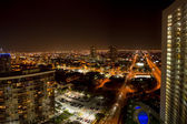 Aerial view of Miami Beach at night — Foto Stock
