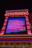 Entrance of the Eldorado Casino in Reno at night — Stock Photo
