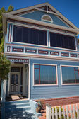 Old Victorian blue house in San Francisco — Stock Photo