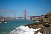 Panorama of the golden gate bridge, San Francisco 2012 — Stock Photo
