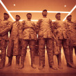 Real human sized terra-cotta army sculptures at the Modern Art M — Stock Photo