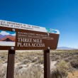 Road sign at the entrance of la Playa in the Black Rock desert — Stock Photo