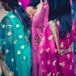 Stock Photo: Women dressed in traditional indidress for wedding in Nepal