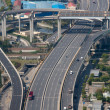 Aeral view of an empty highway in Shanghai — Stock Photo