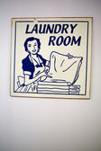 Vintage wall sign with Laundry room — Stock Photo
