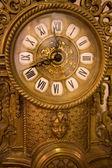 Old iron clock made in nineteenth century — Stock Photo