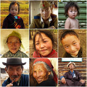 Various portraits of people living in Ulan Bator, Mongolia — Stock Photo