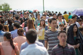 Crowd walking on the 1st of May in China — Stock Photo