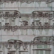 Musical sheet on a facade of a building — Stock Photo