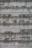 Feuille de musique sur une façade d'un bâtiment — Photo
