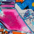 Graffiti wall background in Gdansk — Stock Photo