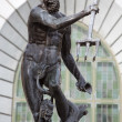 Neptune, bronze statue of the Roman God of the Sea — Foto Stock