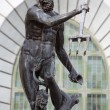 Neptune, bronze statue of the Roman God of the Sea — Stock Photo