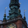 Gdansk City hall at night — Stock Photo