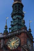 Gdansk City hall at night — Stock Photo