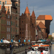 Gdansk Old Town and river Motlawa — Stock Photo #33546813