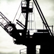 Detail of industrial crane in Gdansk shipyards — Stock Photo