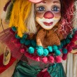 Colorful clown dressed with clothes — Stockfoto