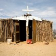 Poor christian church in the desert — Photo