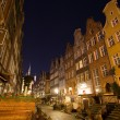 Old town of Gdansk at night, Poland — Stock Photo #33549055