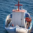 Little fisher boat in Greece — Stock Photo