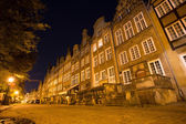 Old town of Gdansk at night, Poland — Stock Photo