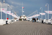 People walking on the Pier of Sopot, Poland — Stock Photo