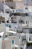 Close up from Traditional greek houses in Santorini — Stock Photo