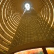 Interior view of the Jin Mao Tower in Shanghai — Stock Photo