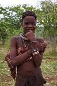 Portrait of a young teenager of the Himba tribe, Namibia — Stock Photo